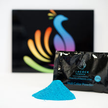 blue boy gender reveal holi color powder