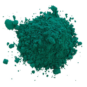 green holi color powder peacock