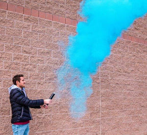 color powder smoke cannon blue