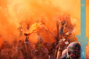 orange bulk wholesale event color festival powder fun run race holi color powder party