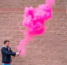 color powder smoke cannon pink