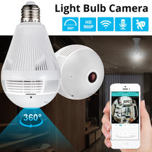 Load image into Gallery viewer, Wireless 360° Panoramic Home Security Camera Lightbulb