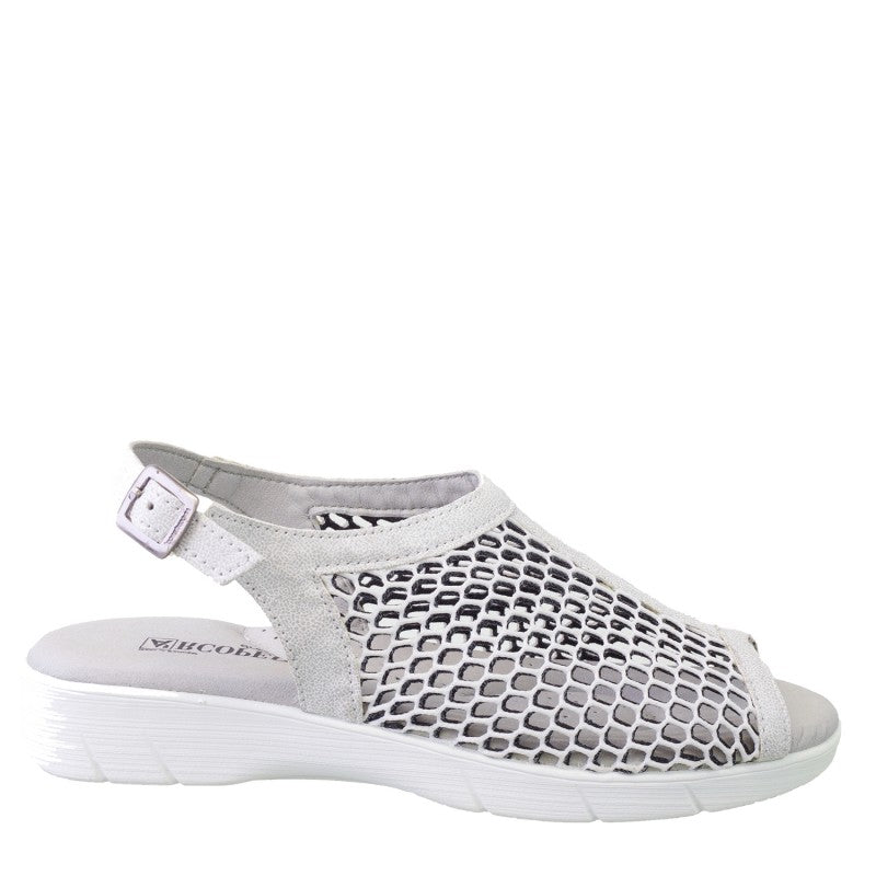 649c5c4c9f Shop ANTALIA - SILVER/WHITE by ARCOPEDICO - Ian's Shoes for Women