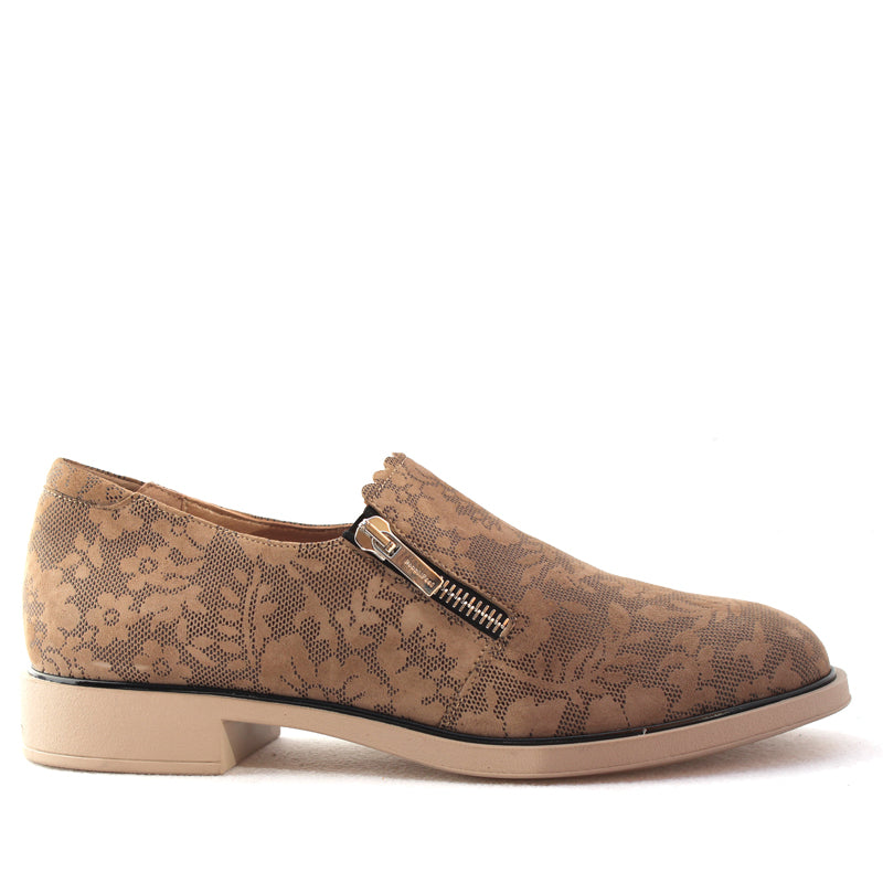 ISSEY - ECRU 3D CHANTILLY SUEDE 1