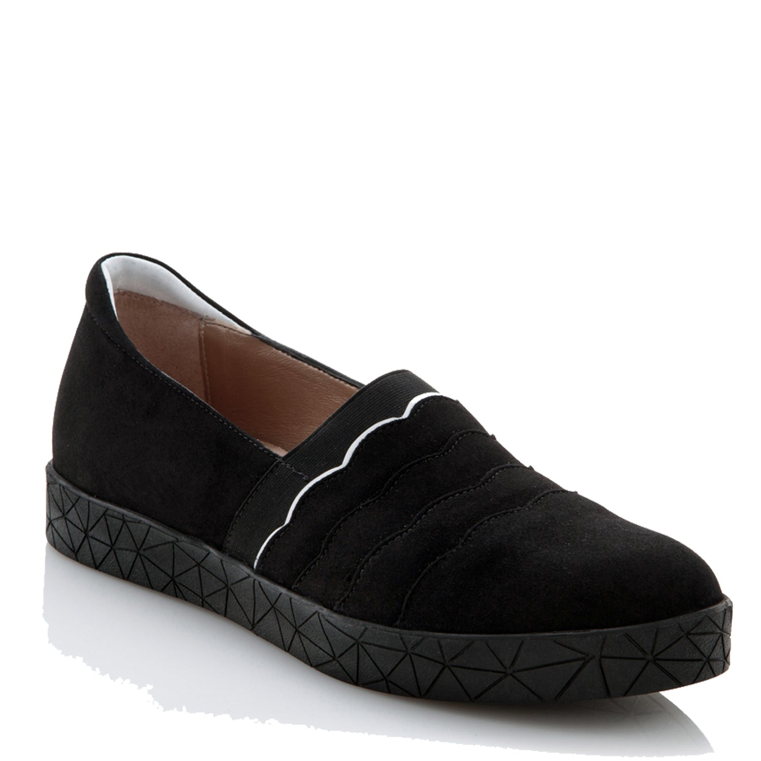 REEVE - BLACK SUEDE WHITE COMBI