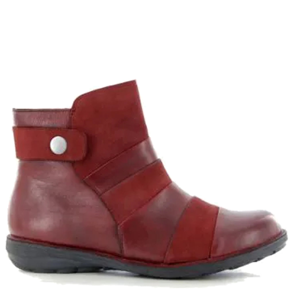 SAMI XW - DARK RED NUBUCK