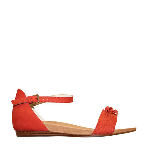 ELAINE - BURNT ORANGE NUBUCK
