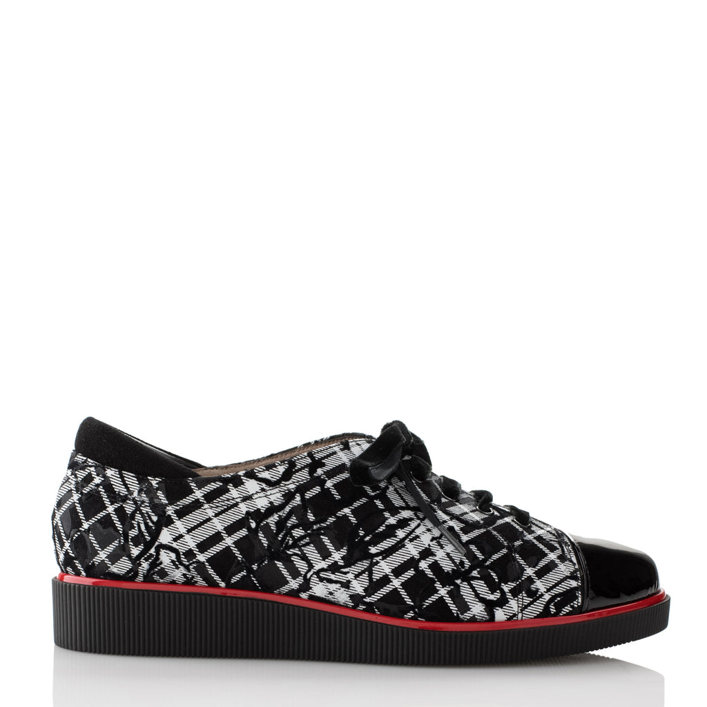 JANE B - BLACK & WHITE PRINT SUEDE