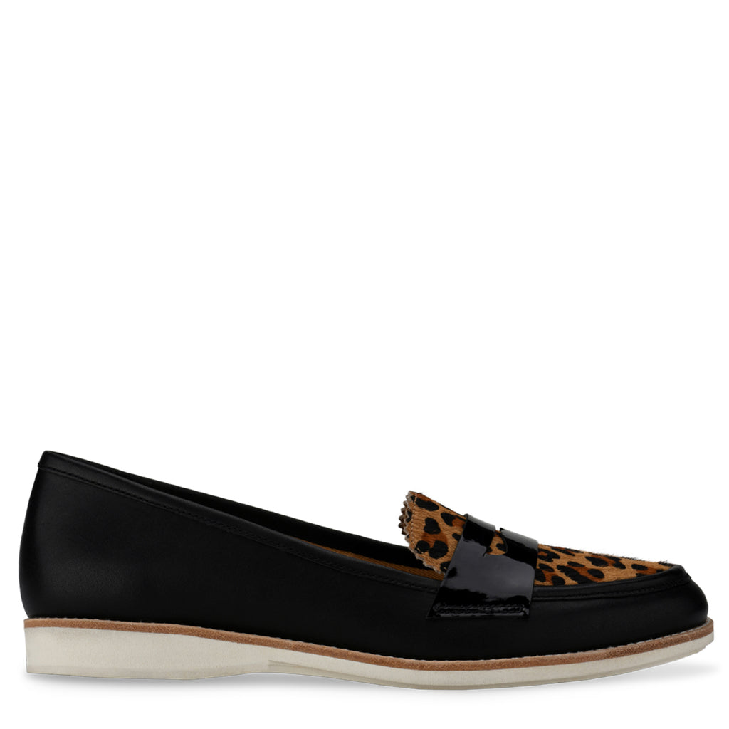 PENNY LOAFER - BLACK COGNAC LEOPARD