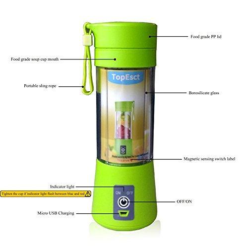USB RECHARGEABLE PORTABLE JUICER / BLENDER & POWERBANK