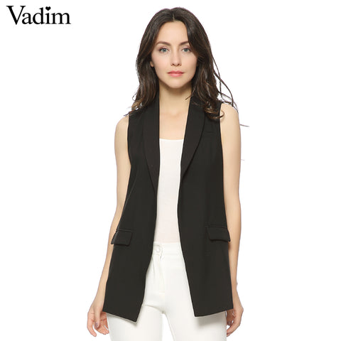 Sleeveless Blazer Vest