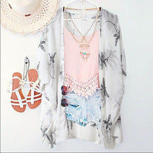 Gentle Floral Cardigan, Winged Blouse Combo