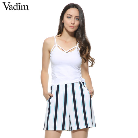 Vertical Striped Shorts