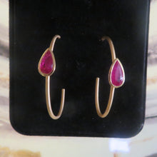 Load image into Gallery viewer, Romantic Ruby Earrings