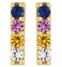 Load image into Gallery viewer, multi-color sapphire earrings