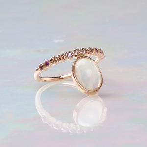 Opal and Topaz Ring