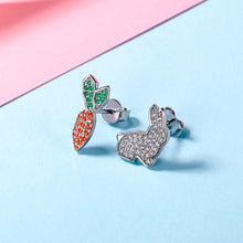Load image into Gallery viewer, Rabbit & Carrot Stud Earrings (Youth)