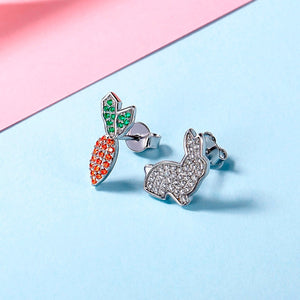 Rabbit & Carrot Stud Earrings (Youth)
