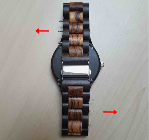 remove wooden watch link
