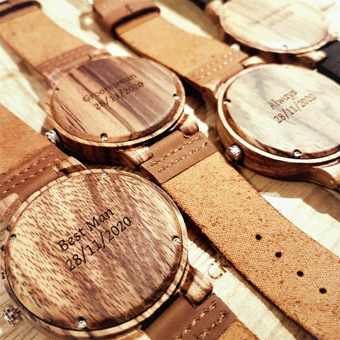 Wooden Watches Groomsmen Engraved