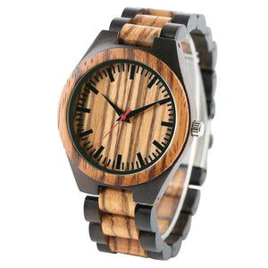 Alpine I | Ebony & Zebra Wood Watch | Wooden Watches UK - TreeTicker