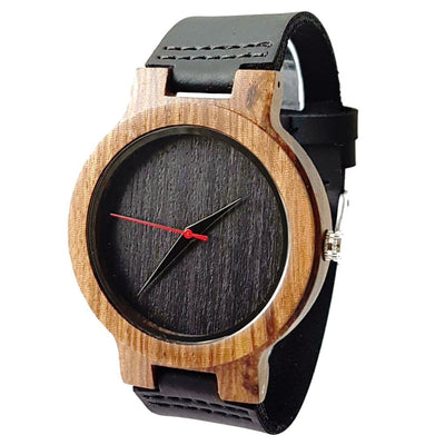 Core Black | Zebrawood | Wood Watch for Men