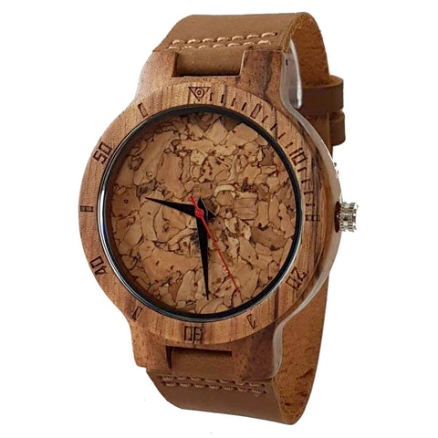 Core Cork III | Zebra Wood & Cork Watch | Wooden Watches UK - TreeTicker