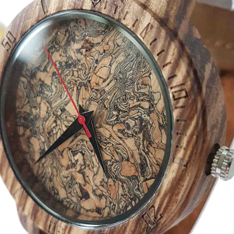 Core Cork II | Zebrawood & Cork - Tree Ticker