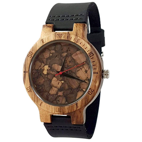 Core | Zebra Wood & Cork Watch | Wooden Watches UK - TreeTicker