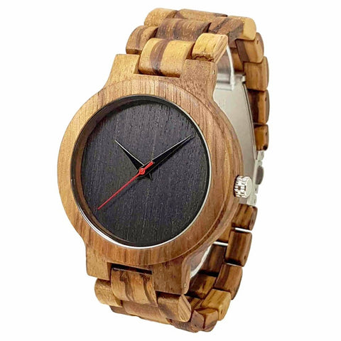 Vintage | Zebra & Bamboo Watch | Wooden Watches UK - TreeTicker