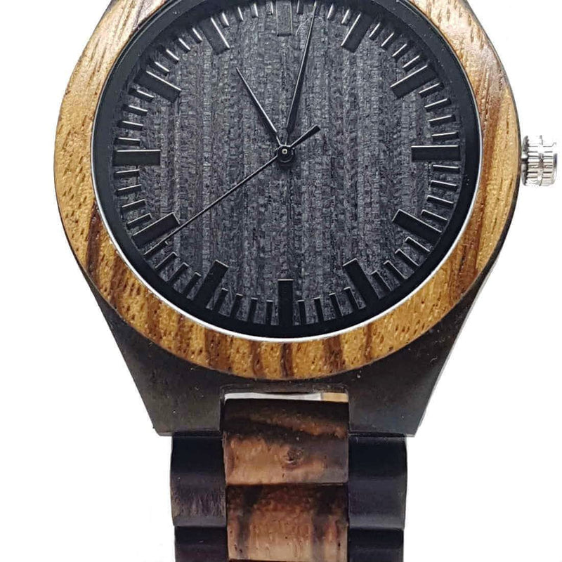 Amsel | Ebony & Zebrawood - Tree Ticker