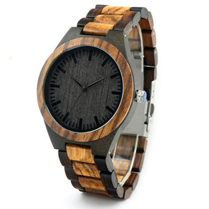 Amsel | Zebra & Ebony Wood Watch | Wooden Watches UK - TreeTicker