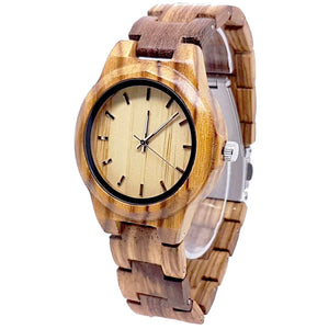 Cacia | Zebra Wood Watch | Wooden Watches UK - TreeTicker