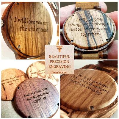 Waru | Groomsmen Watches x4 - Tree Ticker