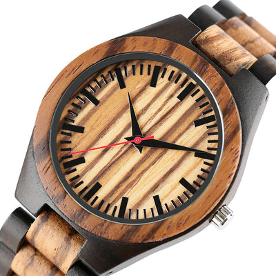 Alpine I | Ebony & Zebrawood - Tree Ticker