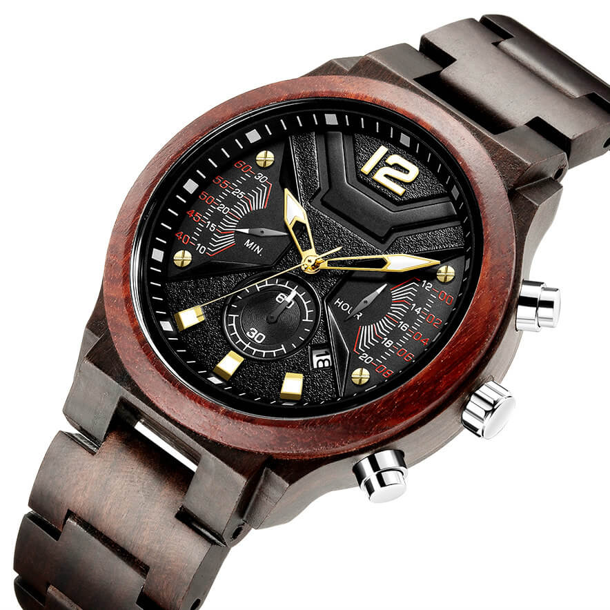 Kimoni I | Black & Red Sandalwood - TreeTicker