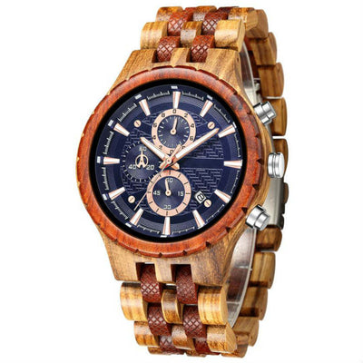Omari | Zebrawood & Red Sandalwood - TreeTicker