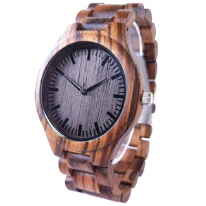 Zebrano | Zebra Wood Watch | Wooden Watches UK