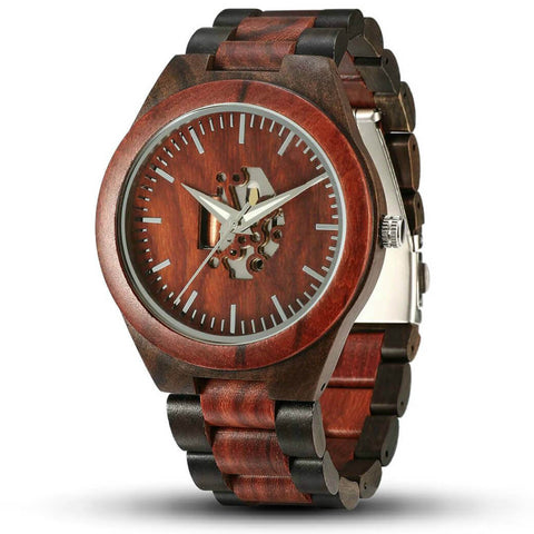 Waru | Ebony & Red Sandalwood Watch | Wooden Watches UK - TreeTicker