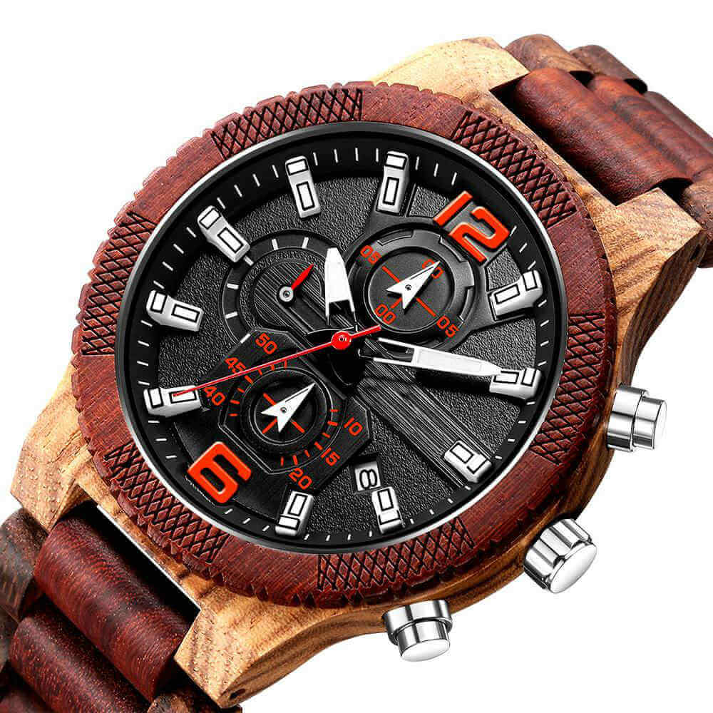 Khali I | Zebrawood & Red Sandalwood - TreeTicker