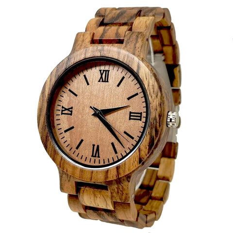 Nadu | Zebra Wood Watch | Wooden Watches UK - TreeTicker