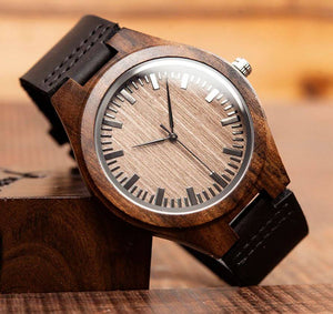 Iroko | Ebony Wood Watch | Wooden Watches UK - TreeTicker