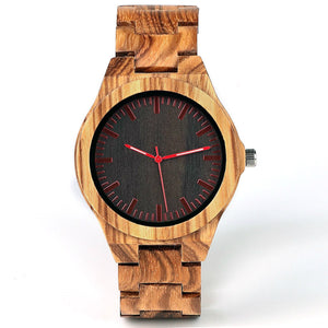 Quoba | Zebra Wood Watch | Wooden Watches UK - TreeTicker