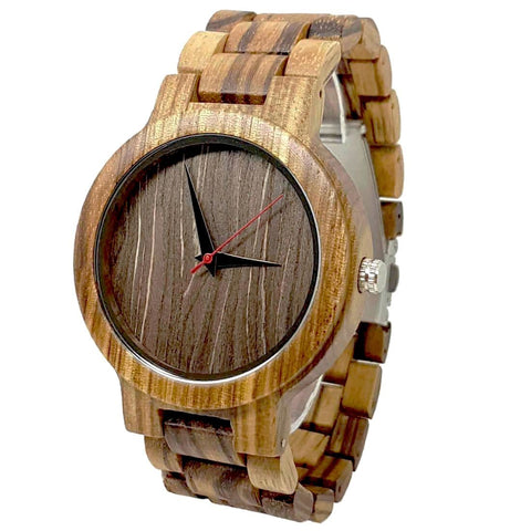 Vintage II | Zebra Wood Watch | Wooden Watches UK - TreeTicker