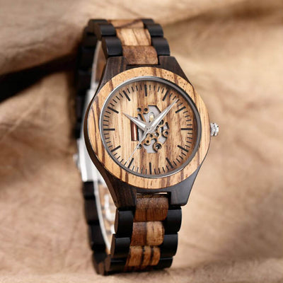 Waru II | Ebony & Zebrawood - Tree Ticker