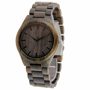 Waya | Ebony Wood Watch | Wooden Watches UK - TreeTicker