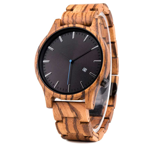 Marula II | Zebra Wood Watch | Wooden Watches UK - TreeTicker