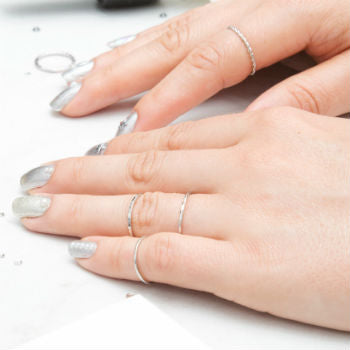 Silver Nails and Silver Rings