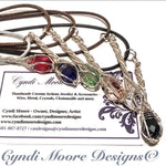 Crystal Clear Silver Crystal Wand Necklace by Cyndi Moore Designs