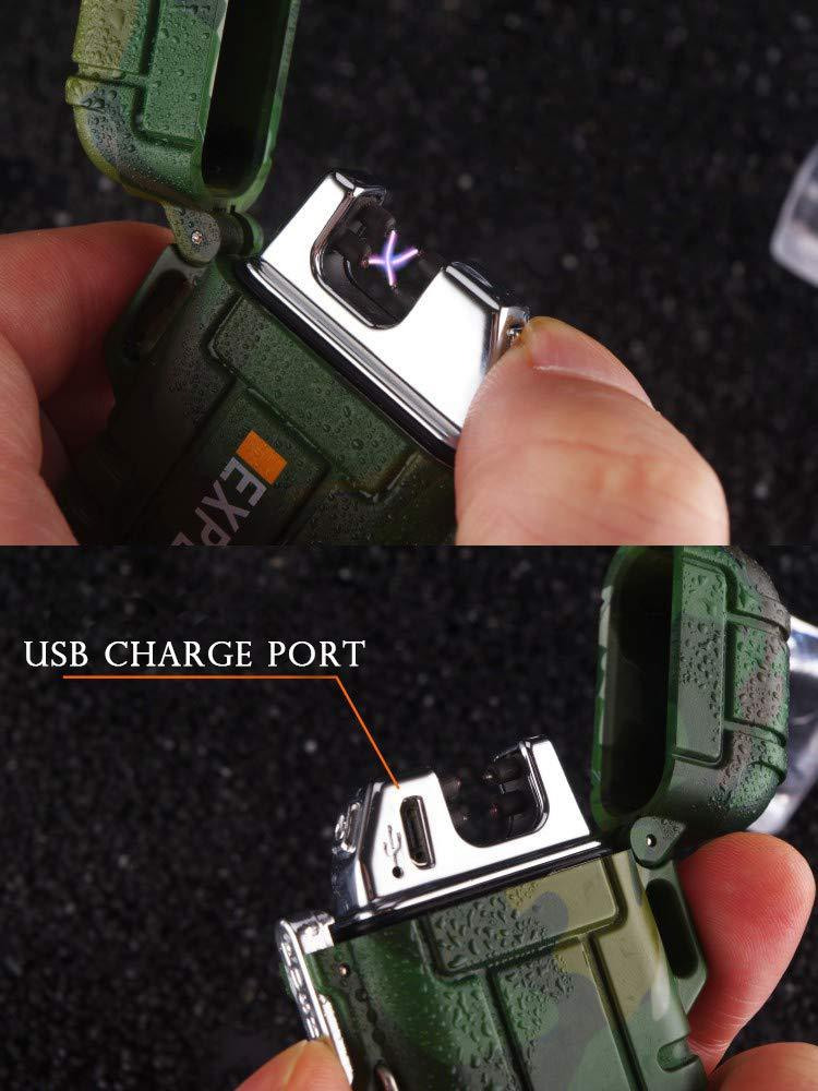 ABS USB charging silent lighter Waterproof & windproof outdoor explorer
